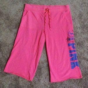 Victoria's Secret PINK Sweat Capri Cropped Pants L